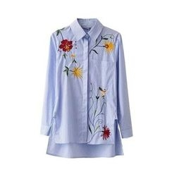 ninna nanna - Floral Embroidered Long Shirt