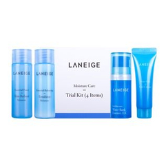 Laneige - Moisture Care Trial Kit: Skin Refiner 25ml + Emulsion 25ml + Water Bank Essence EX 10ml + Water Bank Gel Cream 10ml