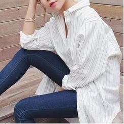 Eva Fashion - Striped Long Shirt