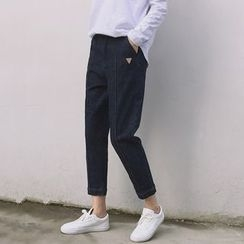 Moon City - Cropped Straight Fit Jeans