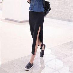 TOM & RABBIT - Slit-Side Long Skirt