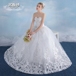 MSSBridal - Maternity Strapless Ball Gown Wedding Dress