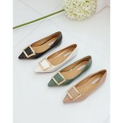 Lemite - Pointed-Toe Buckled Flats