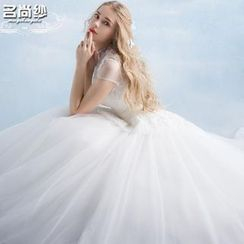 MSSBridal - Maternity Short-Sleeve Ball Gown Wedding Dress