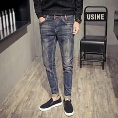 Orizzon - Washed Slim-Fit Jeans