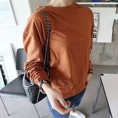 MARSHMALLOW - Round-Neck Long-Sleeve T-Shirt