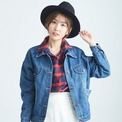 BAIMOMO - Washed Buttoned Denim Jacket