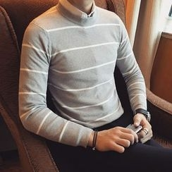 Maluda - Long-Sleeve Striped Knit Top