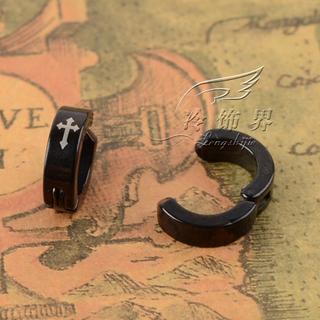 Trend Cool - Cross-Print Titanium Steel Ear Clip