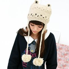 59 Seconds - Cat Ear Pompom Beanie