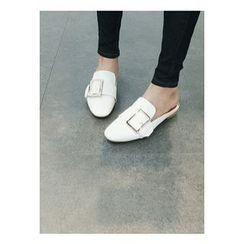 ATTYSTORY - Open-Back Buckled Loafers