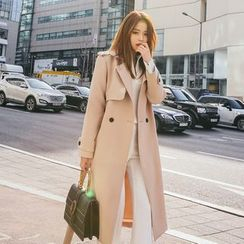 DABAGIRL - Open-Front Trench Coat with Sash