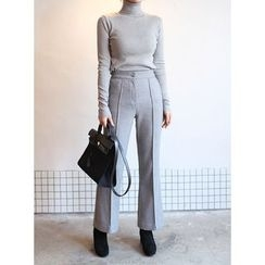 STYLEBYYAM - Flat-Front Boot-Cut Pants