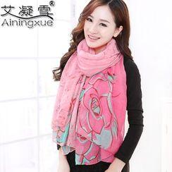 Agisnow - 印花薄圍巾