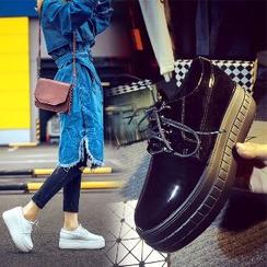 Mancienne - Platform Lace-Up Shoes