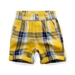 WellKids - Kids Cuffed Plaid Shorts