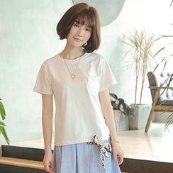 白金天使 - 純色短袖T恤