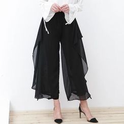 Isadora - Chiffon Wide Leg Pants