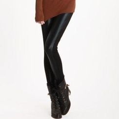 O.SA - Faux Leather Panel Leggings