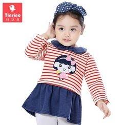 Tinsino - 嬰兒荷葉擺套衫