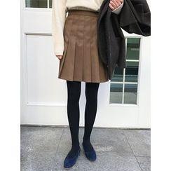 FROMBEGINNING - Pleated Mini Skirt