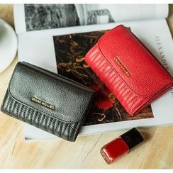 Emini House - Genuine Leather Quilted Flap Wallet
