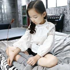 Princess House - Kids Lace Panel Blouse