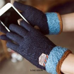 Lose Show - Cashmere Contrast-Color Gloves