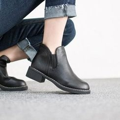 VIVIER - Stitched-Detail Ankle Boots