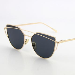 Sunny Eyewear - Metal Frame Mirrored Sunglasses