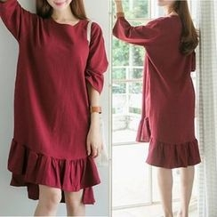 MayFair - Dip Back 3/4-Sleeve T-Shirt Dress