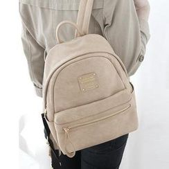 Full House - Faux-Leather Backpack
