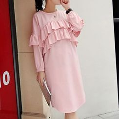 Romantica - Long-Sleeve Ruffled Dress