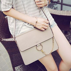 Velocia - Chain Detailed Flap Cross Body Bag
