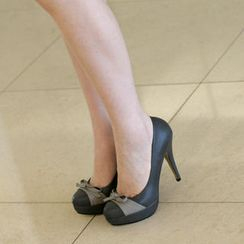 59th Street - Bow Accent Platform Pumps