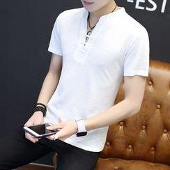 T for TOP - Short-Sleeve V-Neck T-Shirt