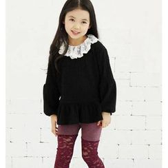 TWINSBILLY - Girls Two-Tone Lace Leggings