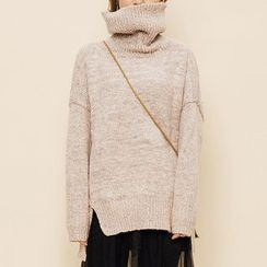 Heynew - Mélange Turtleneck Sweater