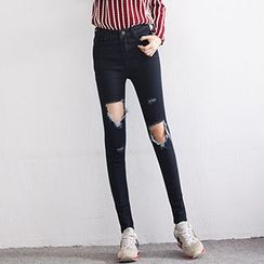 Glen Glam - Skinny Distressed Jeans