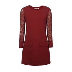 Flore - Lace-Panel Dress