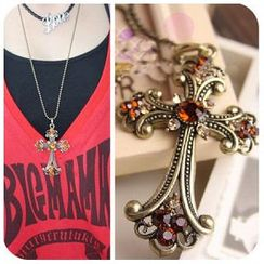 Best Jewellery - Gemstone Cross Necklace