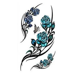 Alinda - Floral Faux Tattoo Stickers