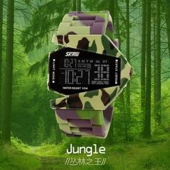 Jeannie's House - Camouflage LED Digital Watch