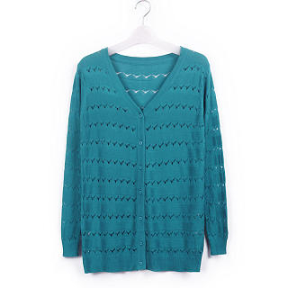 JK2 - V-Neck Pointelle Cardigan