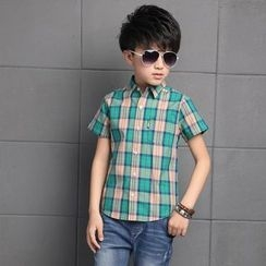 Cuckoo - Kids Check Short-Sleeve Shirt