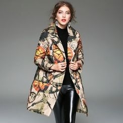 Y:Q - Printed Padded Coat