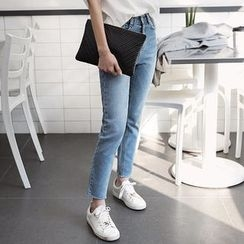Seoul Fashion - Straight-Cut Washed Jeans