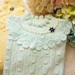 Cobblestone - Ruffled Sweater