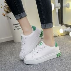 Yoflap - Fleece Lined Lace Up Sneakers