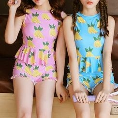 Dolfin - 香蕉印花坦基尼泳衣